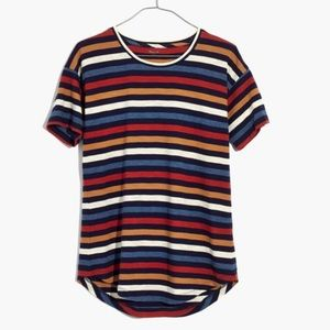 """Madewell """"Whisper""""!Multi Colored striped tee"""